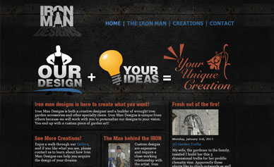 Iron Man Designs Website.