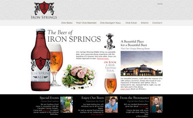Iron Springs Brewery Website.