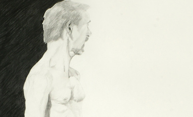Pencil drawing of Man Standing