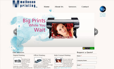 Matheson Printing Website.