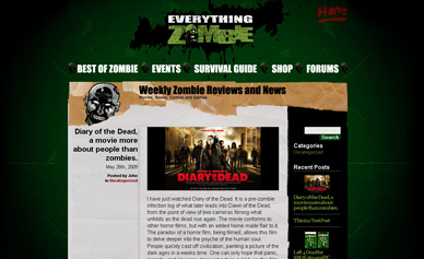 Everything Zombie, learn how to survive zombie attacks.